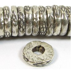1 Karen Hill Tribe Silver 7mm Stamped Disc - Washer Bead