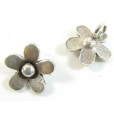 1 Karen Hill Tribe Silver Small Flower Charm
