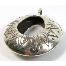 1 Karen Hill Tribe Silver Hoop Pendant