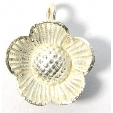 Karen Hill Tribe Silver Bright Daisy Charm