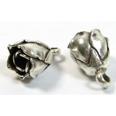 1 Karen Hill Tribe Silver Rosebud Dangle Charm