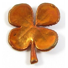 1 Copper Plated Four Leaf Clover Pendant