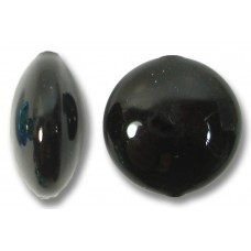 1 Murano Glass Black 14mm Lentil