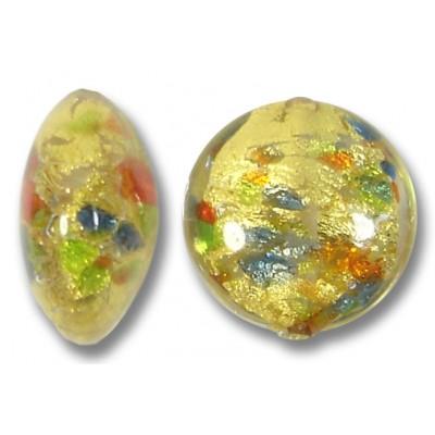 1 Murano Glass Arlechino 14mm Lentil