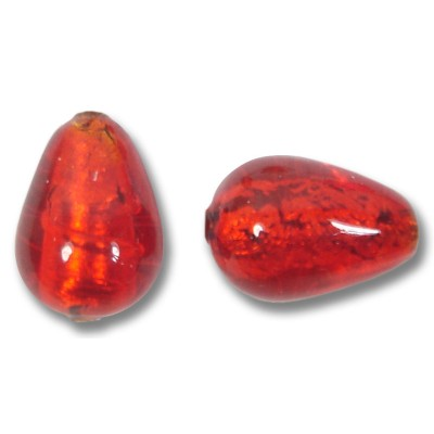 1 Murano Glass Arancio Goldfoil Drop