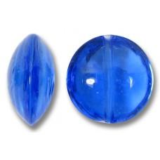 1 Murano Glass Sapphire 14mm Lentil Bead
