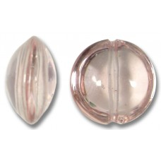 1 Murano Glass Pale Pink 14mm Lentil Bead