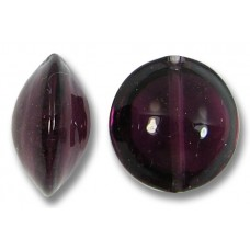 1 Murano Glass Dark Amethyst 14mm Lentil Bead