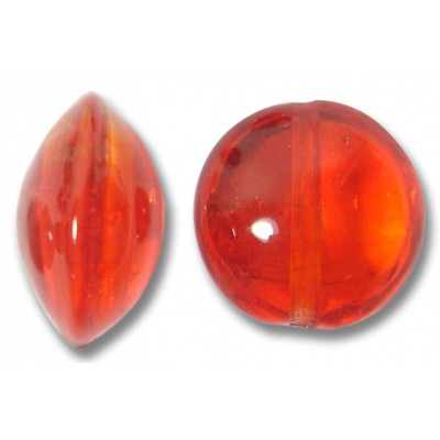 1 Murano Glass Arancio Lentil Bead