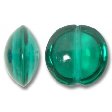 1 Murano Glass Verde Marino 14mm Lentil Bead