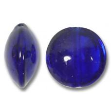 1 Murano Glass Cobalt Blue 14mm Lentil Bead