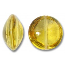 1 Murano Glass Light Topaz 14mm Lentil Bead