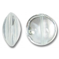 1 Murano Glass Crystal Clear 14mm Lentil Bead