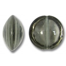 1 Murano Glass Black Diamond 14mm Lentil Bead