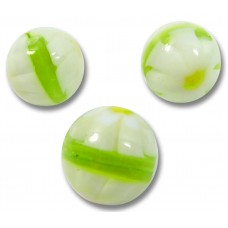 10 Murano Glass Lime and White Millefiore 8mm Beads