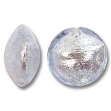 1 Murano Glass Alexandrite Silverfoil 14mm Lentil
