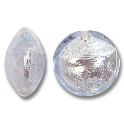 1 Murano Glass Alexandrite Silverfoil Lentil