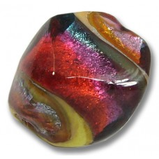 1 Murano Glass Multi Coloured Nugget Bead