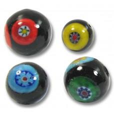 10 Murano Glass Multicoloured Millefiore 12mm Beads