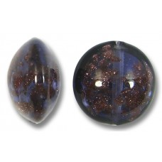 1 Murano Glass Aventurine Purple Velvet 14mm Lentil