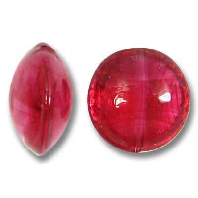 1 Murano Glass Light Ruby 14mm Lentil Bead