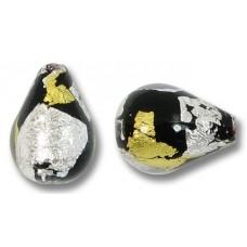 1 Murano Glass Midnight Treasure Drop Bead