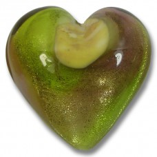 1 Murano Glass Silverfoil 25mm Heart