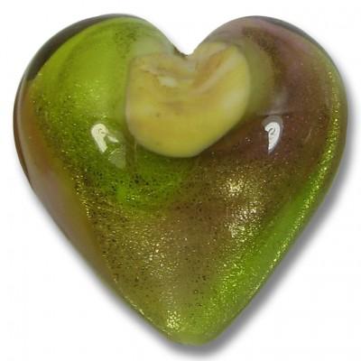 1 Murano Glass Silverfoil 25mm Heart