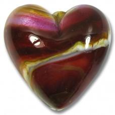1 Murano Glass Silverfoil 30mm Heart