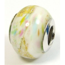 1 Murano Glass Pandora Compatible Misty Meadow Bead with Sterling Silver Core