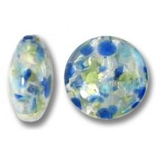 1 Murano Glass Oceano 12mm Lentil Bead