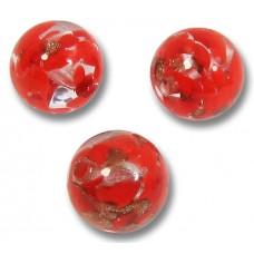 10 Murano Glass Red Aventurine 10mm Round Beads