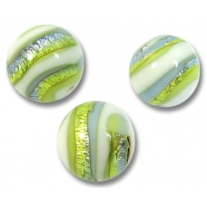 1 Murano Glass 10mm 'Sea Jewel' Round Bead