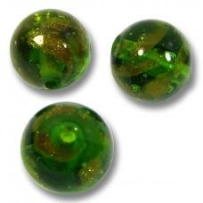 10 Murano Glass Dark Erba Sommerso 8mm Beads