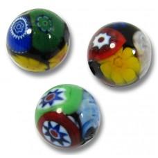 10 Murano Glass Mosaic 8mm Round Beads