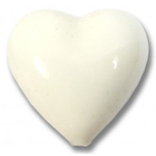 1 Murano Glass White 18mm Heart Bead