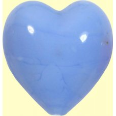 1 Murano Glass Opaque Periwinkle 20mm Heart Bead