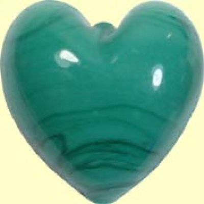 1 Murano Glass Opaque Green Turquoise 20mm Heart Bead