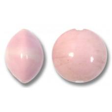 1 Murano Glass Opaque Rose 10mm Lentil Bead