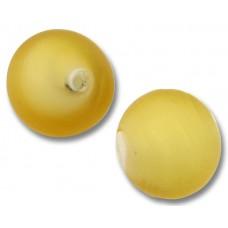 1 Murano Glass Matte Light Topaz White Core 14mm Round Bead