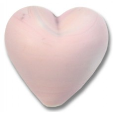 1 Murano Glass Opaque Matte Rose 20mm Heart Bead