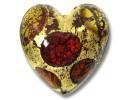 MU-2063, Murano Glass Goldfoil Extravagant Dark Ruby