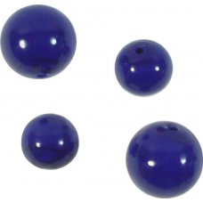 10 Murano Glass Opaque Cobalt Blue 10mm Round Beads