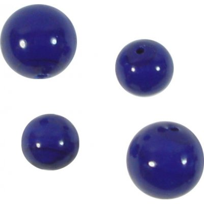10 Murano Glass Opaque Cobalt Blue  8mm Round Beads