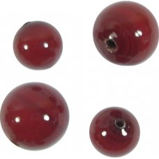 10 Murano Glass Opaque Dark Ruby 10mm Round Beads
