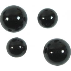 10 Murano Glass Black 6mm Round Beads
