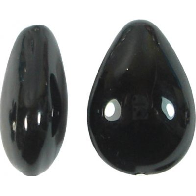 1 Murano Glass Black Small Pear Drop