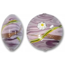 1 Murano Glass Medusa Light Amethyst 28mm Lentil Bead