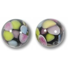 1 Murano Glass Pois Multicoloured 14mm Round Bead