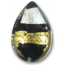 1 Murano Glass Midnight Treasure Large Pear Drop
